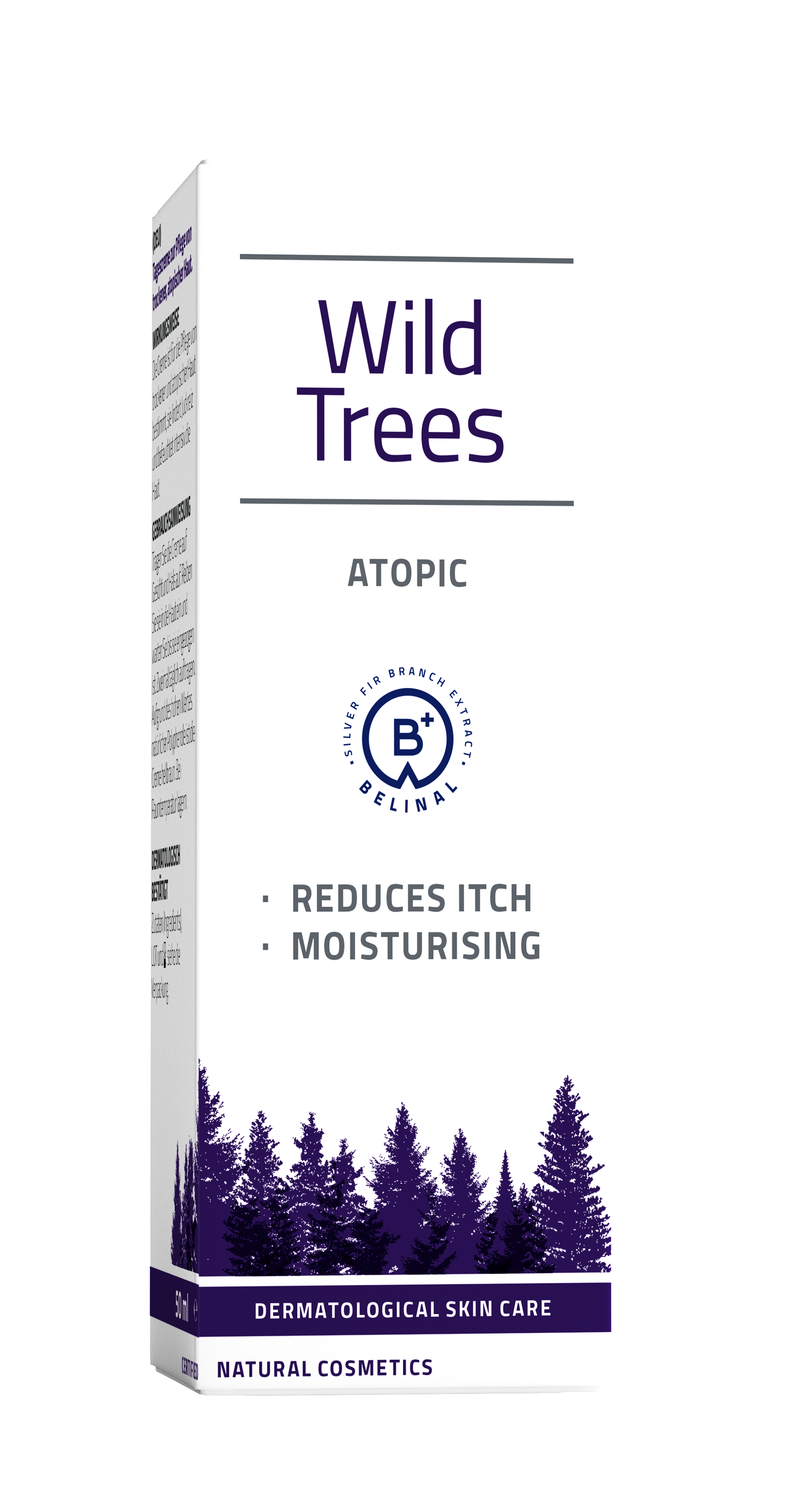 wild trees atopic - silver fir - moisturizes dry skin - relieves itching - redness - improves skin barrier - accelerates skin regeneration - atopic dermatitis - psoriasis