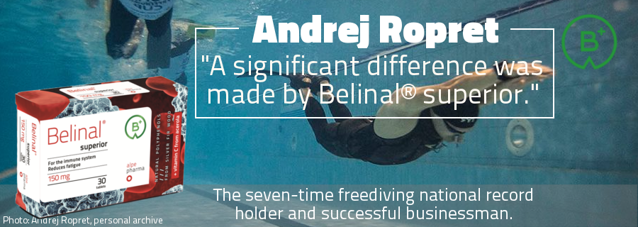 andrej ropret - kranj - slovenia - seven-time national record holder in freediving - belinal superior - silver fir - immune system - fatigue - stress - sport - regeneration