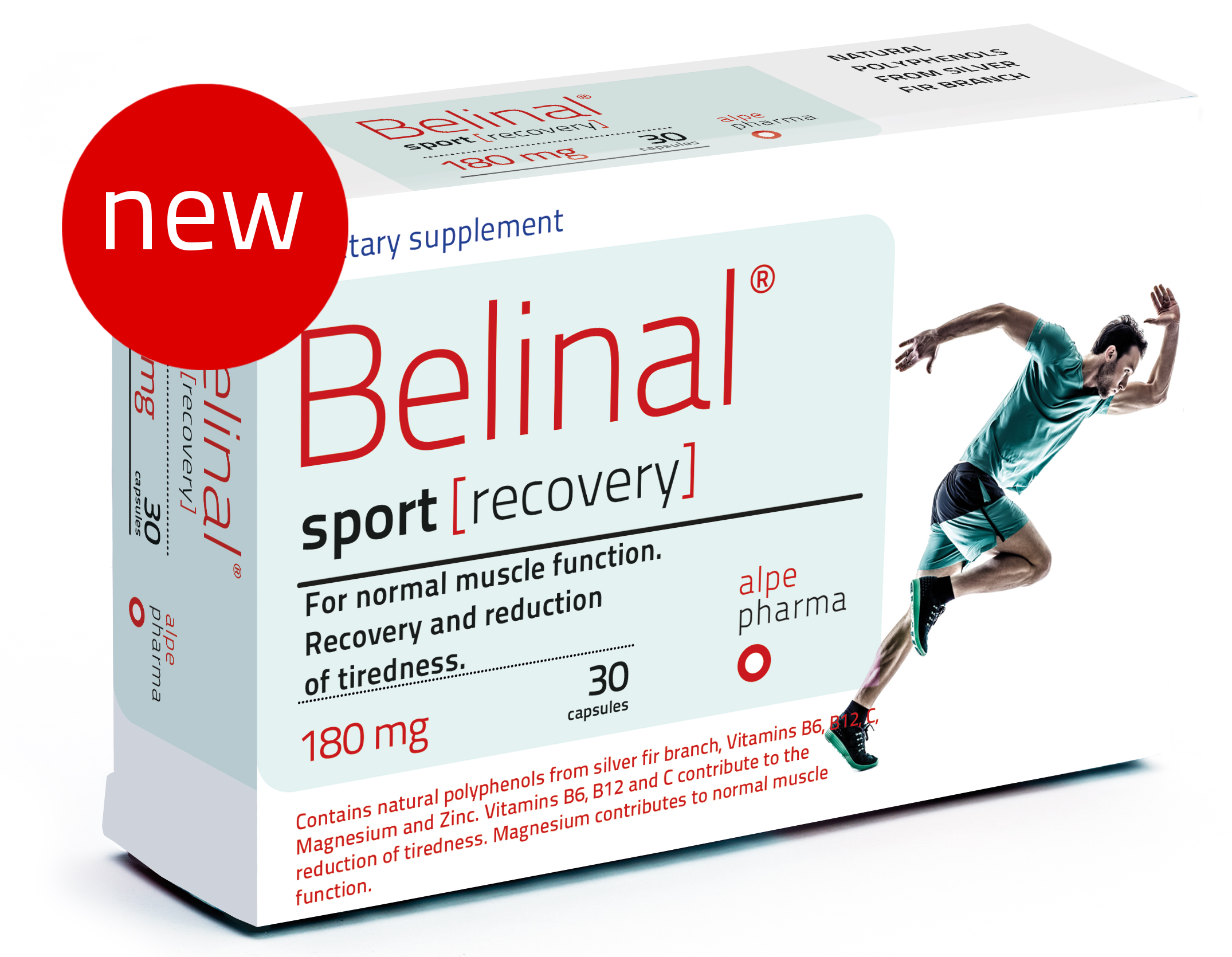 belinal sport recovery - silver fir - muscle recovery - improved endurance - fatigue reduction